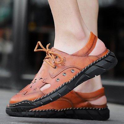 【時尚先生男裝】大碼男鞋新涼鞋真皮大碼男涼靴男沙灘鞋男士夏季拖鞋男皮鞋 2005240544