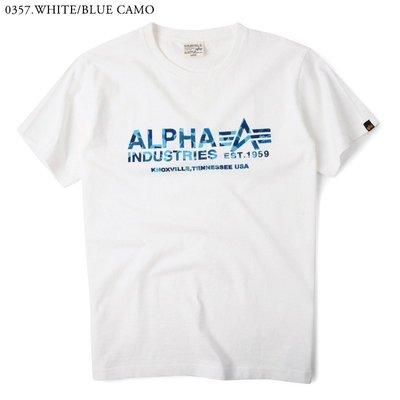 【日貨代購CITY】2016SS 日版 Alpha 小LOGO 短TEE 白藍 迷彩 TC1097-0357 現貨