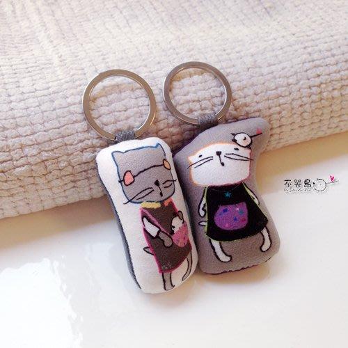 鑰匙圈+卡片 套組*愛鳥的貓咪*不哭鳥