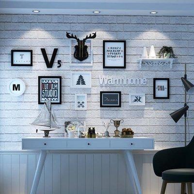 『格倫雅』佰思特 創意客廳鹿頭照片牆 歐式相框掛牆組合 簡約現代相片牆(主圖款~)^29512