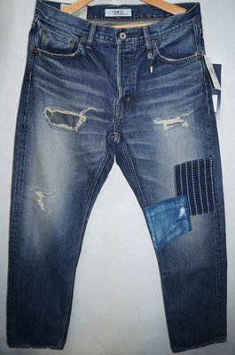 「NSS』FDMTL TRACE DENIM CASE STUDY 破壞 牛仔褲 W32