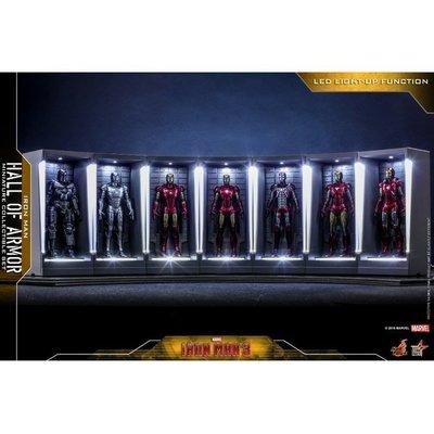 《瘋樂模玩》全新現貨 Hot Toys MMSC012 鋼鐵人 迷你格納庫(發光款)套裝組 會場限定 人氣商品