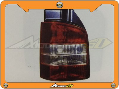 DJD 14-VW-D0240  VW 福斯 T5 10 2門 後燈 紅白對開 單邊
