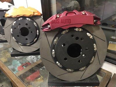 客製化Toyota Wish前大四+330M雙片式浮動碟  卡鉗 活塞 制動系統 六活塞 四活塞