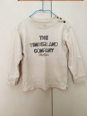 二手Timberland 童裝長袖T恤 $100 運37 110cm 早秋單穿 冬季內搭