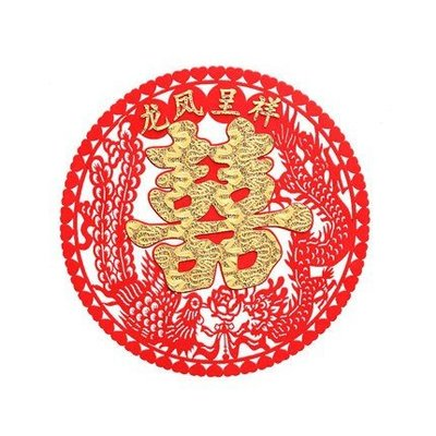 ❤️臻愛婚品館❤️結婚婚慶婚房裝飾佈置喜字~龍鳳呈祥
