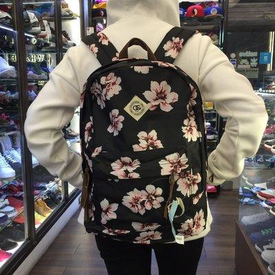 BEETLE PLUS 美國品牌 OBEY WORLDWIDE OUTSIDER 黑 花卉 杜鵑花 後背包