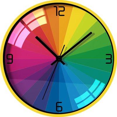 時鐘 掛鐘 卡通兒童掛鐘客廳圓形石英鐘表創意掛墻表靜音壁鐘臥室時鐘