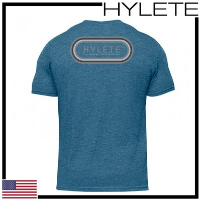 ►瘋狂金剛◄ 爽朗藍 HYLETE overlay tri-blend crew tee 柔軟 透氣 短袖T恤