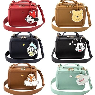 《米奇現貨》正版 Disney Grace gift米奇米妮奇奇蒂蒂小飛象小熊維尼鑰匙包吊飾造型方包休閒肩背包手提包方包