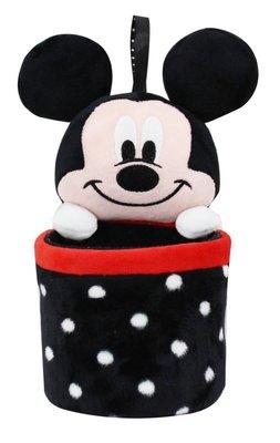 正版授權 迪士尼 MICKEY 米奇 維尼 史迪奇 絨毛吊掛式置物筒 收納桶 筆筒 車用收納 居家收納