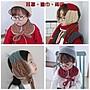 【小阿霏】兒童兩用圍巾耳罩 多色 撞色麻花...