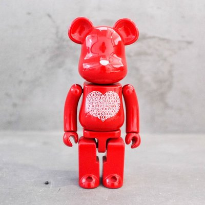 【車庫服飾】收藏品出售 BEARBRICK MEDICOM TOY 200% 超合金 LOVE HEART 紅 愛心熊