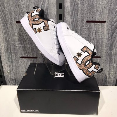 5號倉庫 DC 女 板鞋 DW204601ZCHE 白 豹紋 止滑 耐磨 舒適 膠底 抓地 穿搭 經典 滑板 皮革
