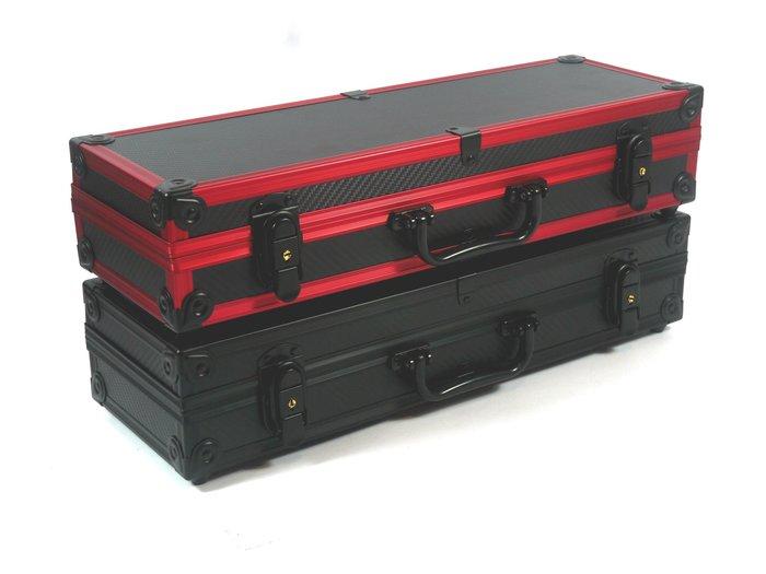 卡夢陽極槍箱45X15X9+雷切海綿+工具組+送二組竿扣/釣蝦箱/釣具箱/槍箱/工具箱(黑色防锈配件)展鷹上興馬氏收納箱