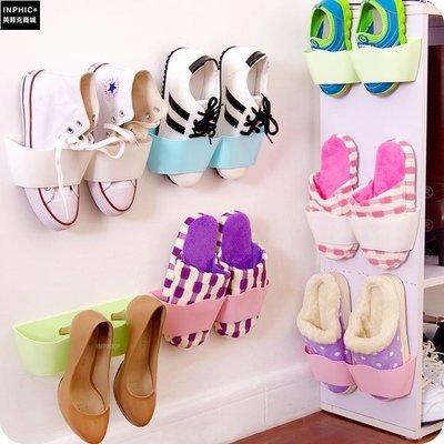 ♥精選暖心商品♥ 創意掛式牆面收納鞋架 門後牆壁立式DIY組合鞋架 立體浴室鞋架