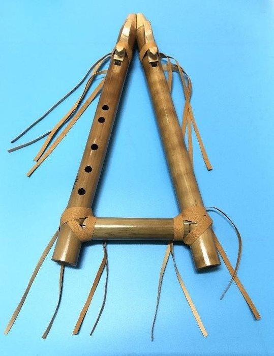 """秘魯原裝進口-職業名牌專業木製雙排5孔""""G""""且若給笛--flauta cherokee doble"""