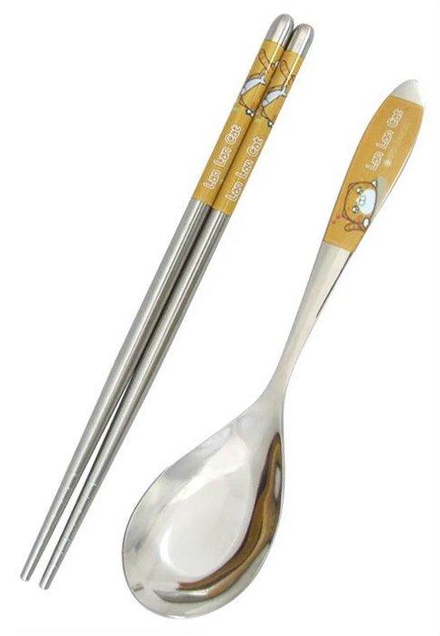 4165本通 白爛貓 不鏽鋼餐具(湯匙+筷子)下標前請詢問
