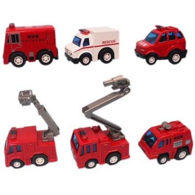 MINI CAR 消防合金車 J790F 迴力合金小汽車(二套)/一盒12台入(促50) 合金汽車 火柴盒小汽車-睿