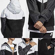 *昕衣屋*轉賣NIKE男大童黑/灰夾克保暖舒適連帽外套 AA0069-010-L150