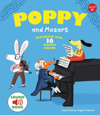 *小貝比的家*POPPY AND MOZART/ 平裝書莫札特古典音樂/ 4-5歲中班/ 聲音書 台中市