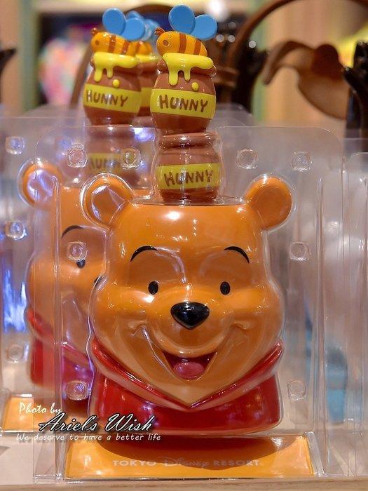 Ariel's Wish預購-日本東京迪士尼Disney立體蜂蜜黃小熊維尼winnie蜂蜜罐子把手灰塵刷雞毛撣子除塵刷子
