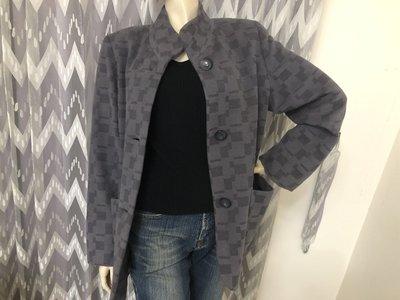 日本品牌【Aspiration】日本製方塊織紋羊毛長大衣外套 ~AJ衣飾hg