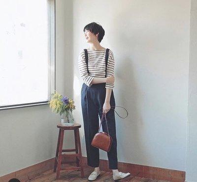 日本品牌  spick & span 吊帶九分褲