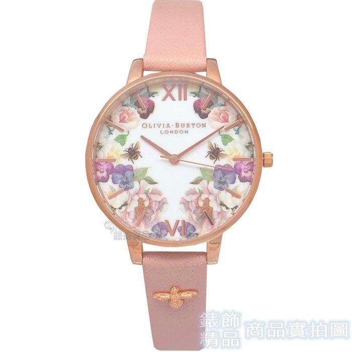 OLIVIA BURTON 手錶 OB16EG111 柔情蜜意 粉色皮帶38mm【錶飾精品】