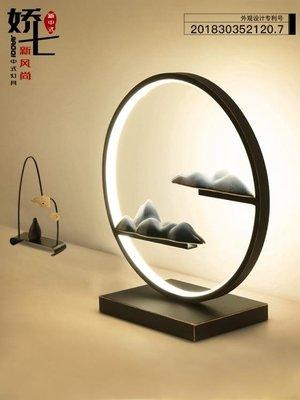 嬌七裝飾臺燈臥室床頭個性led禪意燈書房創意簡約新中式陶瓷臺燈 MKS小物標