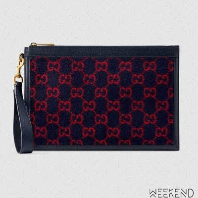 【WEEKEND】 GUCCI GG Wool Pouch 手拿包 藍色 19秋冬 597627
