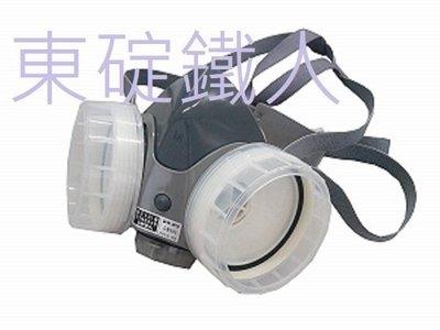 《日本重松製作所》GM-28S*(矽膠材質)單口罩~雙罐式防毒面具 (非3M)