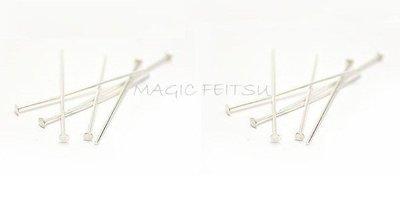批發。零售【純銀材料】《 925純銀T針/耳環吊墜項鏈手鏈專用》串珠手工純銀配件