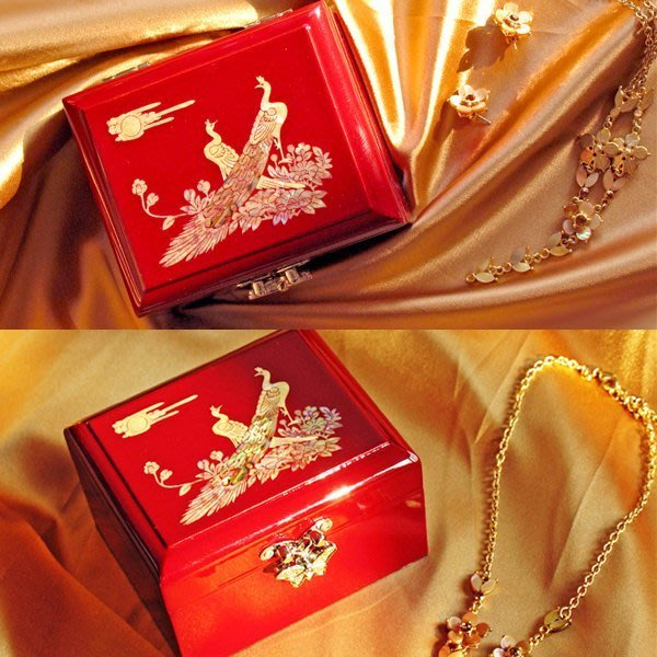 5Cgo 【鴿樓】含稅會員有優惠   23919768368 中式貝殼木質制復古首飾盒 開運禮物禮品珠寶盒子 收納盒