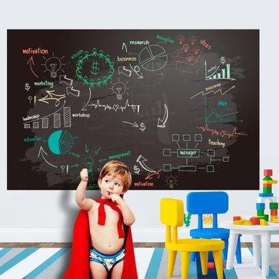 兒童黑板貼白板貼黑板墻家用教學涂鴉墻膜可擦寫自粘墻貼紙可移除 最右角落 免運-可開立發票Al