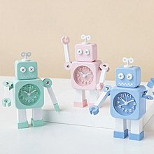 卡爾本系列發條機器人鬧鐘兒童房創意裝飾金屬鬧鐘擺件-掘金者