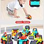 ◎寶貝天空◎【匯樂口袋工程車六入組】城市慣性車,可愛小汽車,迷你小汽車玩具車,禮物禮品獎勵兒童適合
