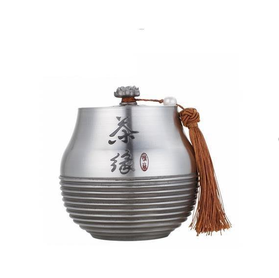 5C精選@錫罐錫制茶葉密封罐茶葉罐錫杯壺器密封罐 茶葉罐