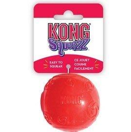 Ω永和喵吉汪Ω- 美國KONG Squeezz Ball 啾啾球(M)彈跳口感軟Q有嚼勁