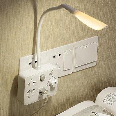 小夜燈 創意LED台燈家用插座轉換器帶USB多功能臥室床頭嬰兒喂奶小夜燈XBD