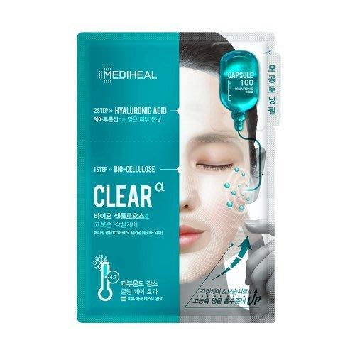 【韓Lin連線代購 】韓國MEDIHEAL可萊絲 深層護理2步驟面膜安瓶組-CLEAR玻尿酸款 10片