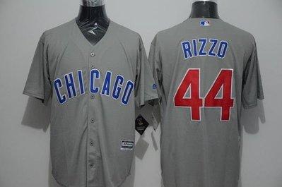 116CM-136CM胸 MLB小熊隊球衣CUBS棒球服44號RIZZO藍灰綠白色開衫T恤短袖訓練服all