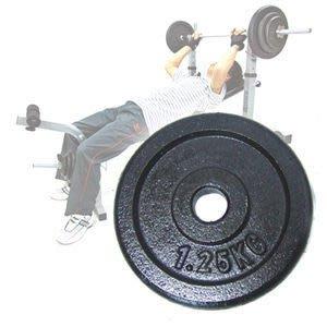 【推薦+】1.25KG傳統鑄鐵槓片(單片1.25公斤槓片.槓鈴片.啞鈴舉重量訓練運動健身器材專賣店哪裡買C113-601