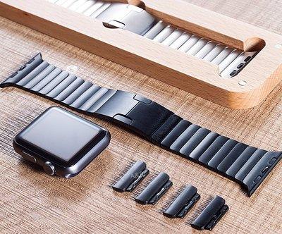 【A&R】Apple watch 4 3 2 按鈕頂規版 38 42 44 mm 不鏽鋼 錶帶 送充電座 鋼化膜 保護殼