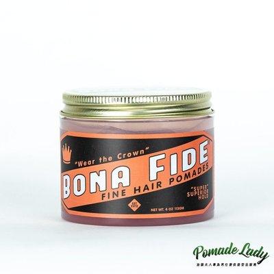 【油頭夫人】加州造型品始祖 Bona Fide Hold Pomade 高濃縮強力髮油 超硬定型力 工業級獨家配方