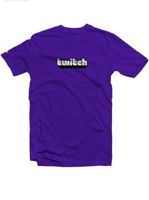 Twitch 紫色/黑色 T恤
