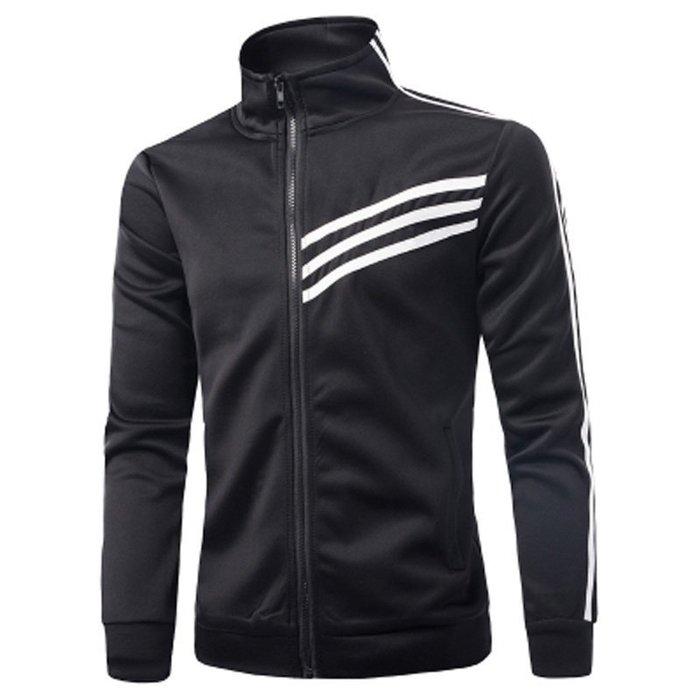 『潮范』  N4 外貿新款立領開衫衛衣 棉質立領外套 夾克 立領運動外套 棒球外套