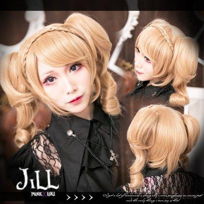O吉兒O蘿莉塔哥德貴族公主 可拆麻花辮子雙馬尾假髮 cosplay 凡爾賽玫瑰 lolita【JPLH043】