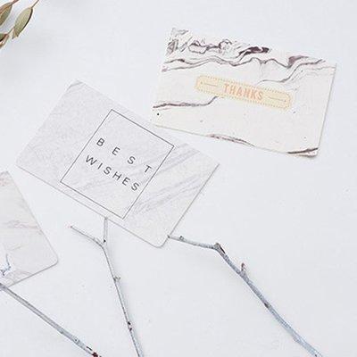 空白卡片 賀卡 感謝卡 便籤 聖誕卡片 生日卡 祝福卡 大理石紋 歐美 燙金卡片(附信封) ❃彩虹小舖❃【B005】 新北市
