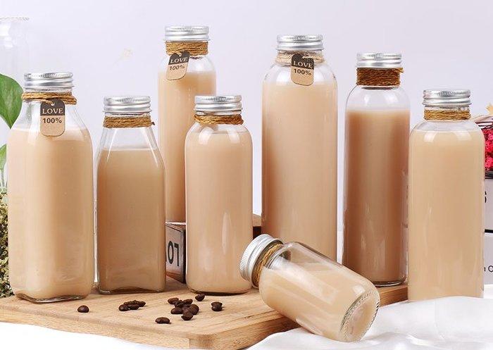 鋁蓋玻璃瓶 500ml 花茶瓶 ☆ VITO zakka ☆ 漂流瓶 許願瓶 儲物瓶 冷泡茶玻璃瓶
